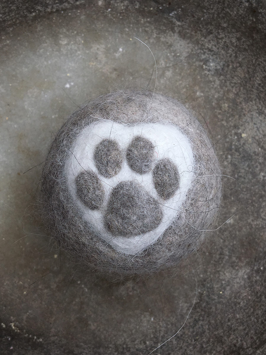 paw made from cats fur